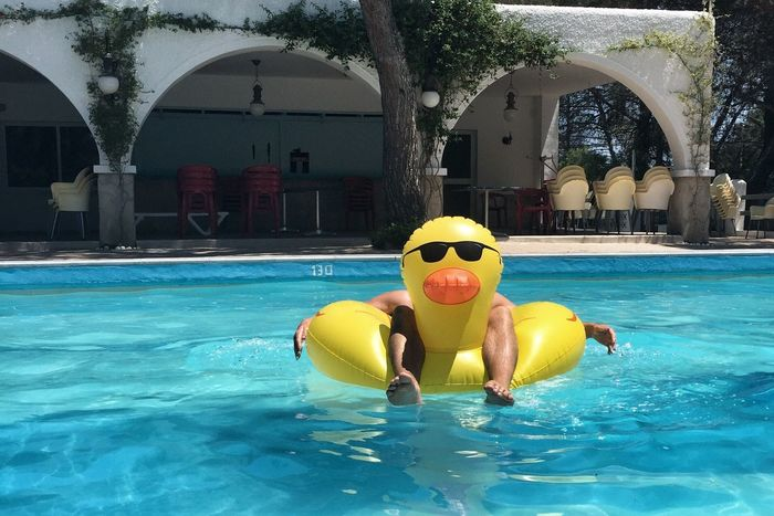 Inflatable duck Inflatables Duck Pool Swimming Pool Holiday Chilling Man Floating Fun Summer Vacation Pool Toys