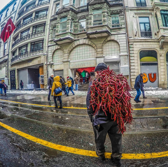 -- The Man With Chili Peppers -- Small Business Heroes Baby It's Cold Outside Built Structure Capsicum Chilli Chilli Pepper EyeEmNewHere From Where I Stand HDR Street Photography HDR Streetphotography Istanbul Winter Wheather People Watching Punchy Colors Real People Red Hot Chili Peppers Salesman Street Business Street Photography Streets Of Istanbul Taksim Square Travel Destinations Travel The World Turkey Turkeyphotooftheday Türkiye Winter Day