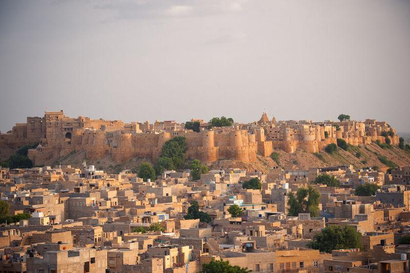 Sky Nature Desert India Jaisalmer Travel Trip Senset Jaisalmer Fort