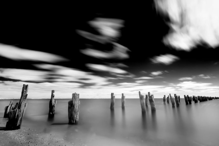 Long Pier Clouds And Sky Clouds Long Exposure Infrared Infrared Photography Infrared Photo Cold Temperature No People Spirituality Winter Water Outdoors Nature Sky Day