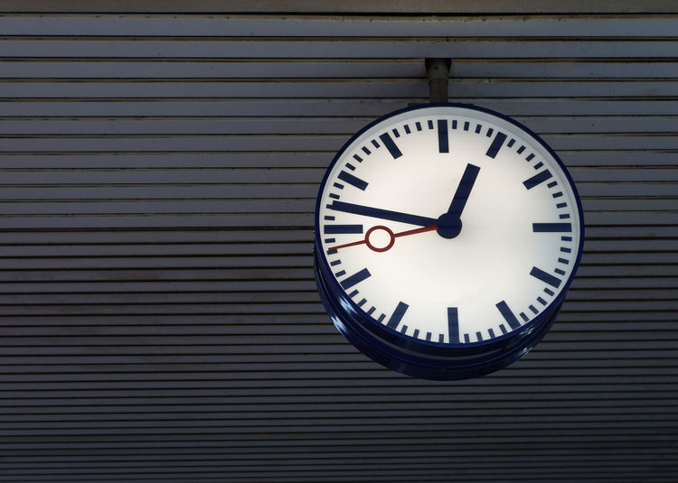 Ceiling Clock Clock Face Close-up Copy Space Illuminated Minimalism Night No People Station Station Clock Time