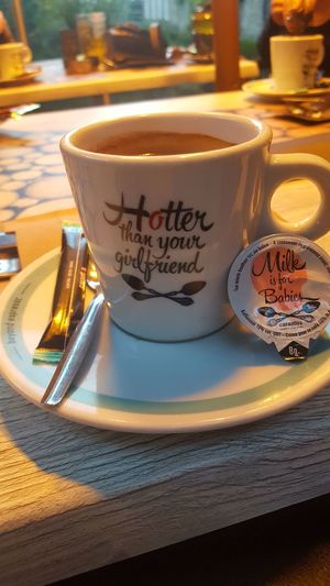 hotter Drink Plate Table Saucer Coffee - Drink Text City Coffee Cup Dessert Close-up Cappuccino