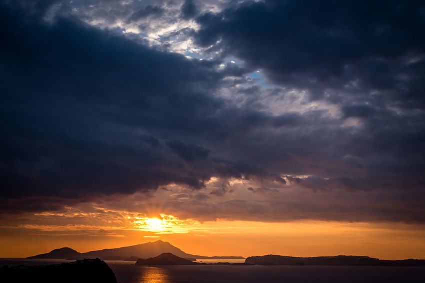Italia Naples, Italy Napoli Beauty In Nature Cloud - Sky Italy Landscape Nature Orange Color Outdoors Scenics Sun Sunlight Sunset