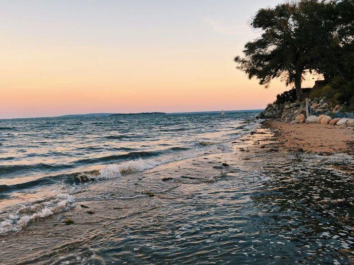Sky Sunset Water Sea Beauty In Nature Beach Land Horizon Over Water
