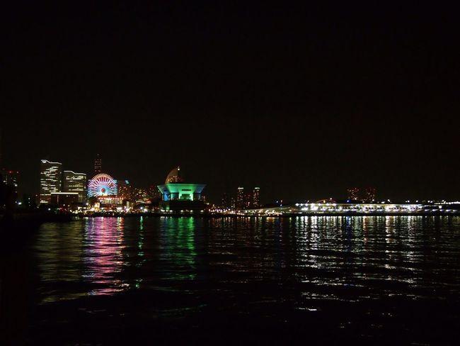 Sea Building Night Lights Ship