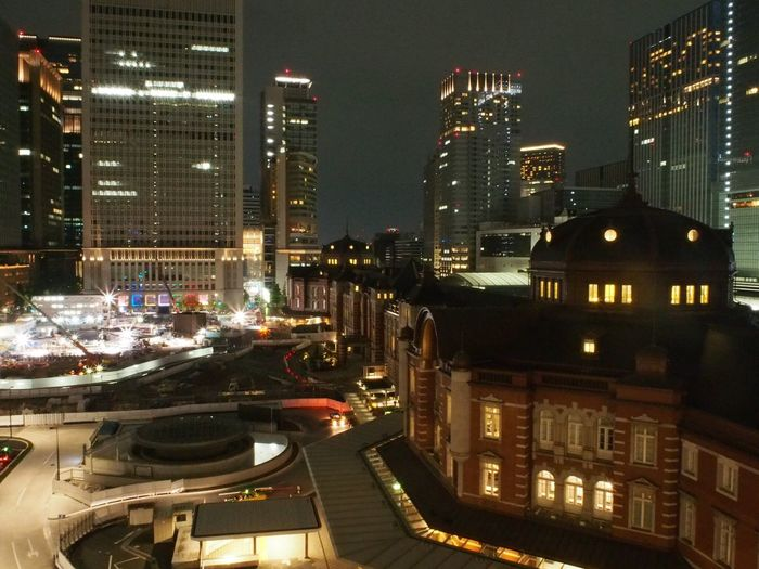 Battle Of The Cities Tokyo Station Tokyo Japan Japan Photography Station Light In The Darkness Brilliant Buildings