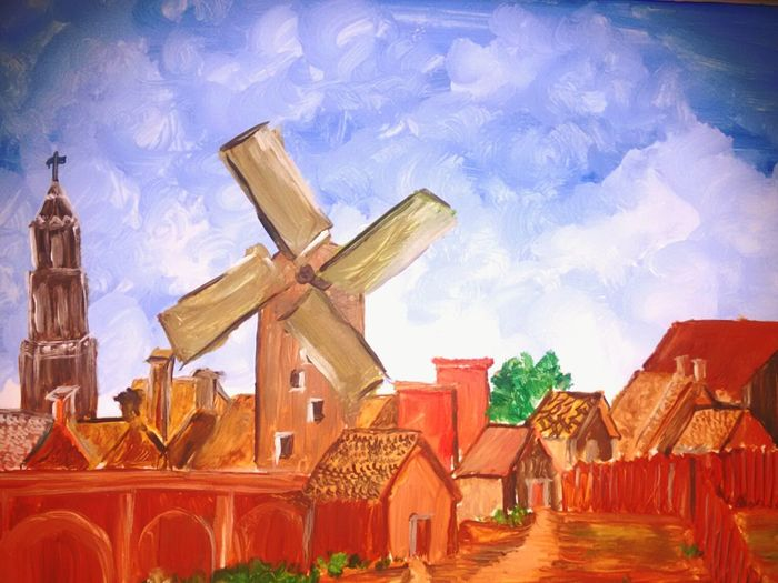 That Old House In All Our Painting In Childhood Childhoodmemories