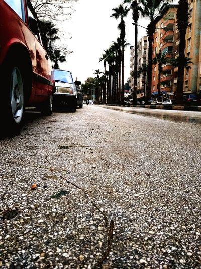 Car Transportation Land Vehicle Road Wet Street Asphalt Rain Mode Of Transport No People The Way Forward Rainy Season Outdoors Day Tree Tire Nature Sky تركيا هاتاي