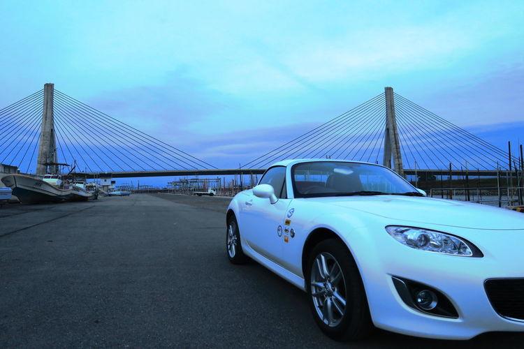 柳川 有明海沿岸道路 矢部川大橋 Roadster MX-5 自動車 ロードスター Bridge Japan Mx5 Miata マツダ Car Mazda Motorsport Sky River Riverside
