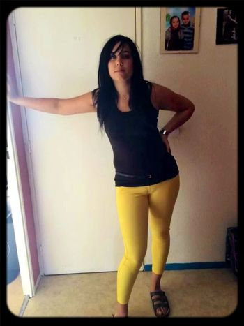 Ma Femme Yelow Pants Girl Love