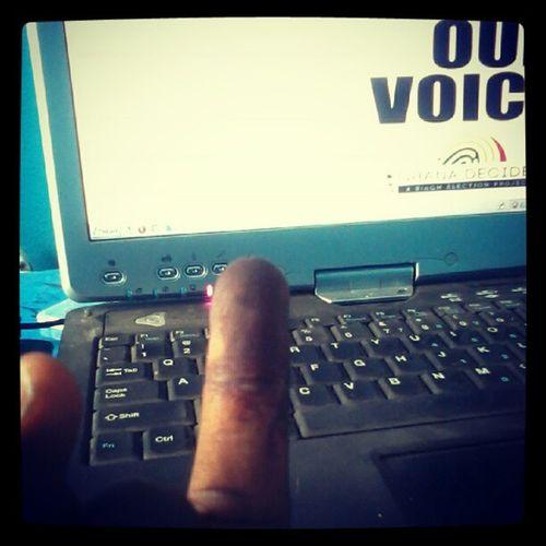Ivoted ..hehe Ghanadecides Letsvote
