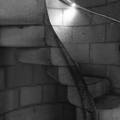 Walking down the 'passion' tower Architecture Barcelona Black And White Church Stairs Granite Stairs Grey Sagrada Familia Sagrada Familia Stairs Spiral Staircase Staircase Stairs Steps Stone Staircase