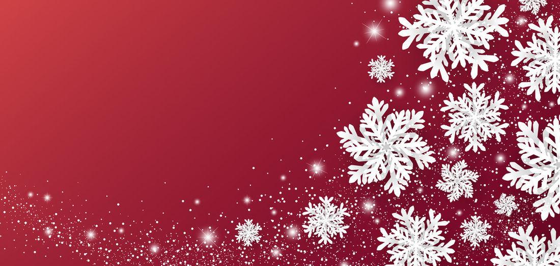 Close-up of christmas lights on snow
