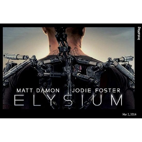 Elysium at this Afternoon Mattdamon Cool hot