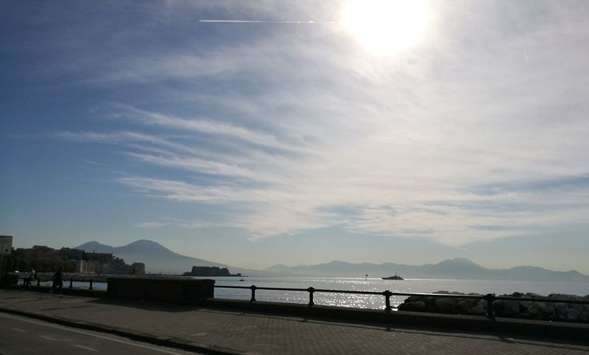 Naples Italy🇮🇹 Tranquility Sky Beautiful Beautiful View Romantic View NoFilterNoEdition No People No Filter, No Edit, Just Photography Sea Sun Colors Street Boat Tourism