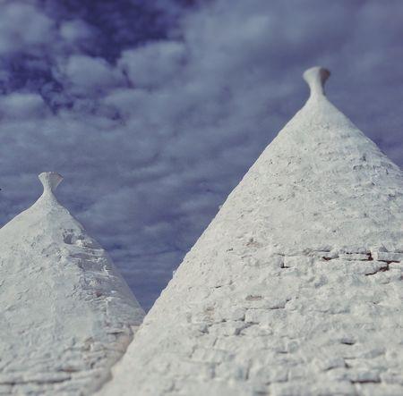 White And Blue Architecture Trulli Puglia Trullo Nature No People Day Land Outdoors Cone Sky