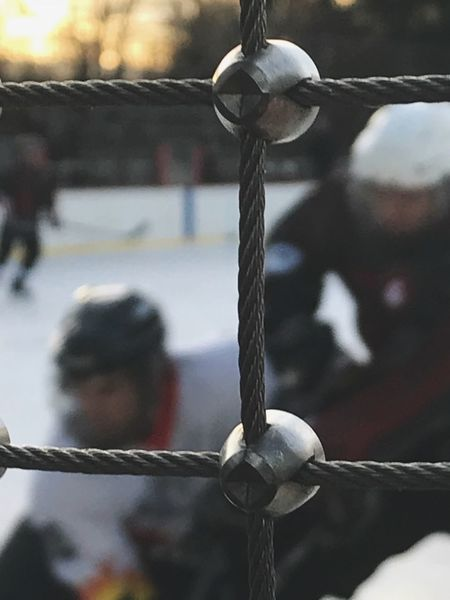 Eishockey Rope Focus On Foreground Outdoors Day Swing Strength Close-up