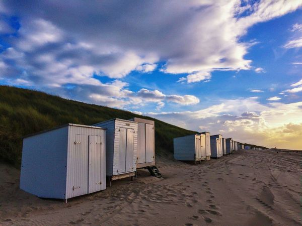 Domburg  Strand Fotografie Sky Beach Cloud - Sky Sand Nature No People Tranquility Beauty In Nature Outdoors Day Tranquil Scene Water Sea Scenics