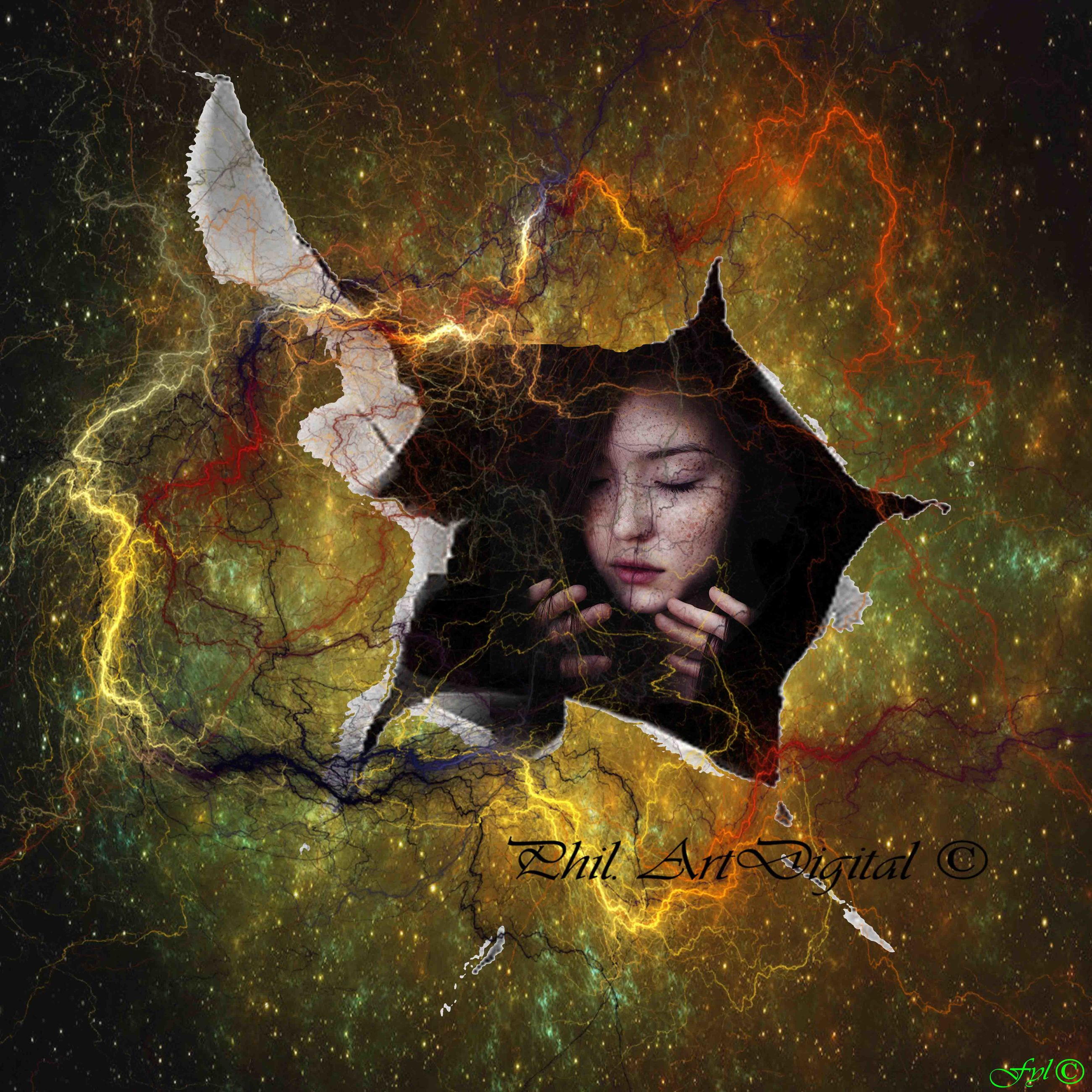 digital composite, one person, art and craft, nature, fantasy, creativity, adult, women, sky, outdoors, young adult, headshot, portrait, emotion, fairy tale, mystery, communication, transparent, contemplation, witch, textured effect, angel, teardrop