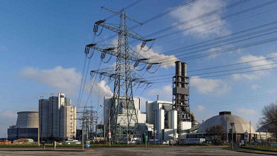 Coal power plant. Hamburg-Moorburg. 2014 Coal Power Plant Hamburger Hafen Industry Kohlekraftwerk Kohlekraftwerk Moorburg Kraftwerk Power Plant Industrie