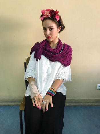 Knock off version of Frida (other caption: my Halloween costume) 🌹 Halloween Costume Frida Kahlo Frida Real People Front View Three Quarter Length Young Adult Lifestyles One Person Leisure Activity Young Women Posing