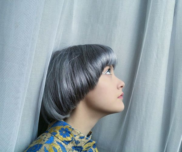 One Person Headshot Close-up Fragility People Adult Day Glitter Portrait Silver Hair Eyelash Majestic Greyhair  Young Adult Human Body Part Human Lips Fashion Real People Grey Hair Bowlcut Women Indoors