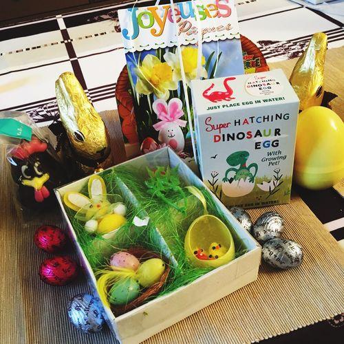 Préparation de Pâques en cours ! Paques Chocolate Reception Colis Dinosaure Easter Easter Ready Easter Eggs