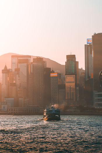 EyeEm Best Shots EyeEm Gallery EyeEmNewHere Ferry Hong Kong Hong Kong Harbour HongKong Golden Hour Nature Sea Sunrise Transportation Water Waterfront