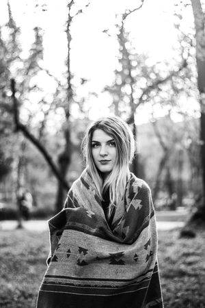 Beauty Black And White Photography Blackandwhite Casual Clothing Happiness Headshot Looking At Camera Model Modelgirl Nature Park Park - Man Made Space Person Photoshoot Portrait Portrait Of A Woman Showcase April Smiling Waist Up Young Women The Portraitist - 2016 EyeEm Awards