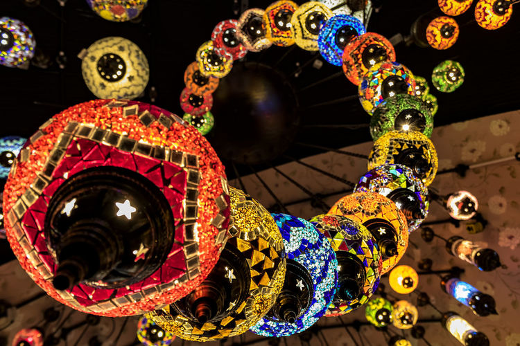 Turkish De-Lights Architecture Chandelier Close-up Cultures Handmade Lights Multi Colored People Turkish Lamps