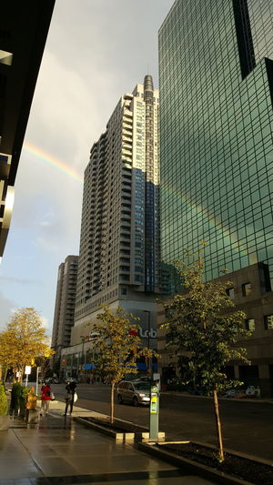 City Rainbow Toronto Building Exterior City Life Outdoors No People