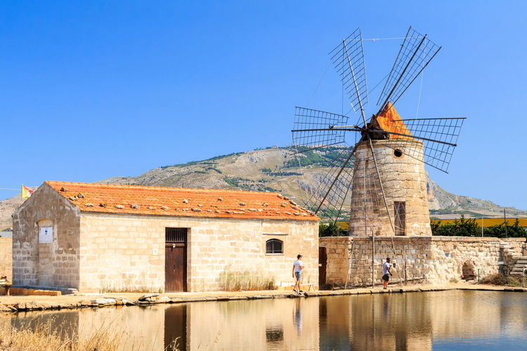 700D EOS EOS700D Europe Trip Nature Sicilia Sicily Sicily, Italy Summertime Windmill Alternative Energy Building Exterior Built Structure Canon Canonphotography Environment Europe Island Landscape Nature Sky Summer Tourism Water