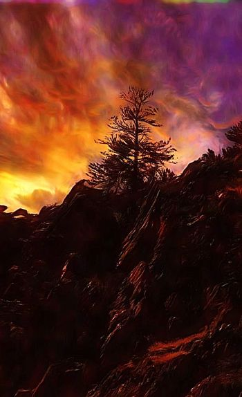 Fire in The Sky Sunset Landscape Cloud - Sky Dramatic Sky Scenics Mountain Silhouette Collection Silhouette Photography Tranquility Fire In The Sky Dramatic Sky Dramatic Sunset Staircase To Heaven Rocky Mountain National Park Colorado