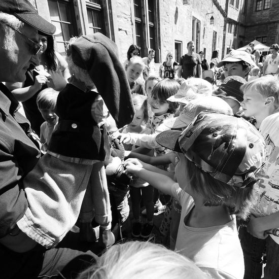 VIP: Very Important Punchinello - MAinLoveWithLife and Little People Reaching Out Longing for little Punchinello & friends Monochrome Black And White Children Children Photography The Street Photographer - 2015 EyeEm Awards - 23.08.2015