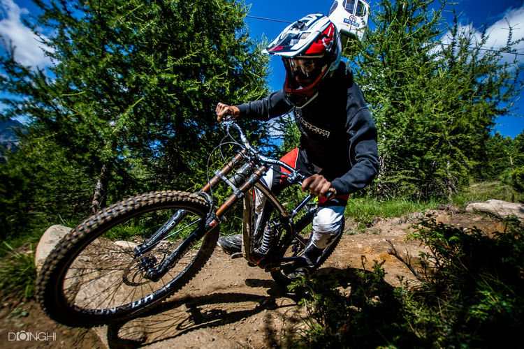 Action Shot  Bicycle Dh Freeride Livigno Mottolino MTB Biking Sports Photography