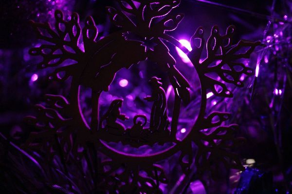 Happy holidays!💫 Outdoors Illuminated No People Close-up Night Purple Light Freshness Christmas Lights Christmas Decoration Christmas Ornament Christmas Day Decoration Violet Magic