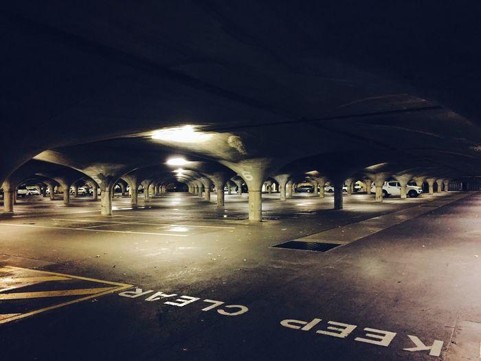 Underground car park in Univercity of Melbourne uniquely structured with a mushroom shape celling. Car Park Underground Parking Architecture The Architect - 2016 EyeEm Awards