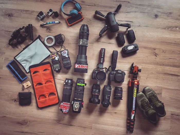 Mix Yourself A Good Time Allineed  Mytools Partofthecrew Justafewthings #grindhard Essentials Photographerslife Ready To Go Large Group Of Objects Hardwood Floor DJI Mavic Pro High Angle View Variation No People Technology Wireless Technology Canon Canonphotography Sigmaartlens FlexoGrafie