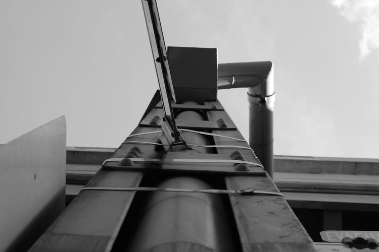 Architecture Blackandwhite Building Exterior Built Structure Clear Sky Day Directly Below Industrial Building  Industry Low Angle View No People Outdoors Sky Tall Tall - High
