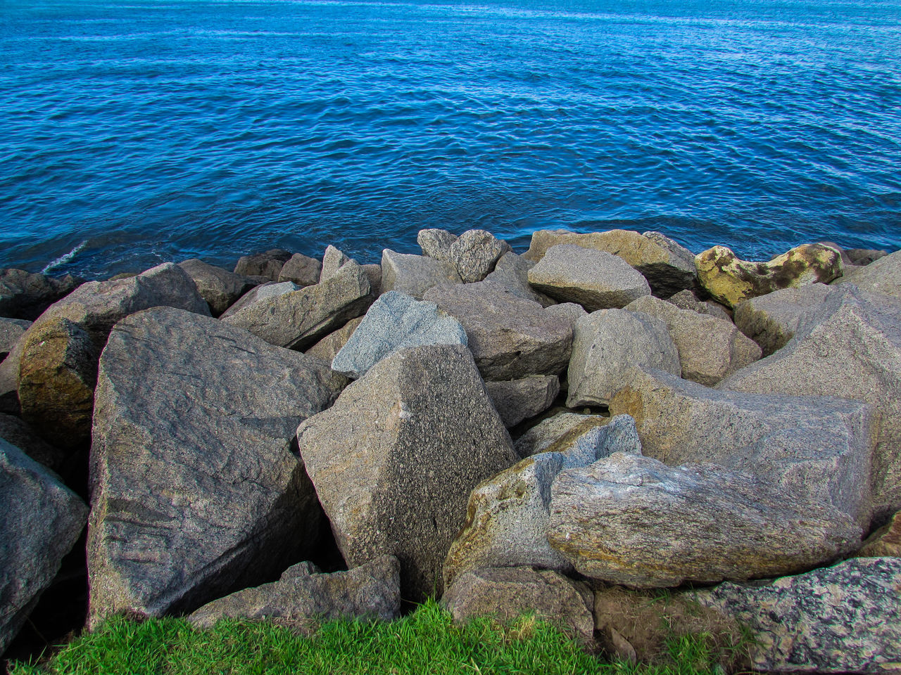 Rocks On Sea Shore
