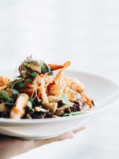 Salad EyeEm Selects Food Food And Drink Plate Healthy Eating Ready-to-eat Vegetable Seafood Wellbeing No People Crustacean Freshness Indoors  Roasted Serving Size Main Course Meat Savory Food Crab Meal Indulgence