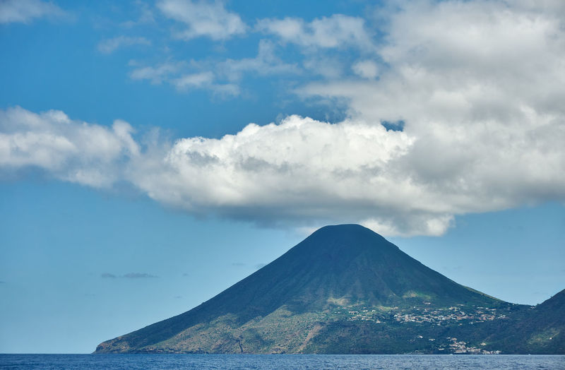 Salina Volcano Island Salina Island Beauty In Nature Cloud - Sky Day Idyllic Mountain Nature No People Outdoors Scenics Sea Sky Tranquil Scene Tranquility Volcano Vulcanic Landscape Vulcano Vulcano Island Water Set Of Two Lost In The Landscape Been There. Done That. An Eye For Travel