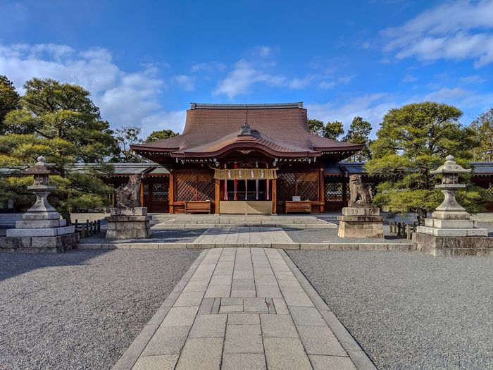 Jonangu Kyoto Japanese Style Japanese Culture Japanese Shrine Taking Photos EyeEm Best Shots EyeEm Gallery From My Point Of View The Week on EyeEm Architecture Built Structure Building Exterior Sky Tree Cloud - Sky Building Religion Place Of Worship Spirituality History Architectural Column