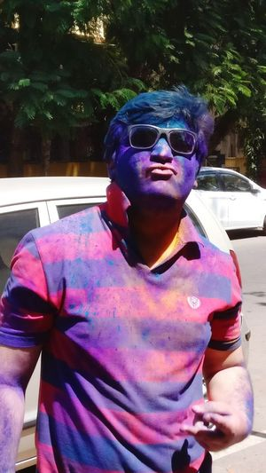 Holi Swag.. Front View Outdoors Real People Lifestyles Close-up Eyeglasses  Adult EyeEm Selects Tredition Holi Festival
