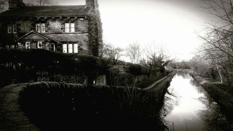 Retro Styled Canal Path Canals And Waterways Cottage Blackandwhite Photography Reflections In The Water Canal