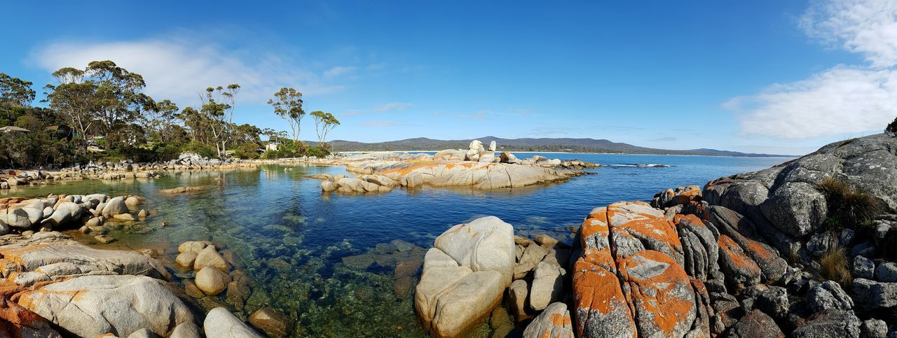 Blue Wilderness Nature Beauty In Nature Sky No People Outdoors Horizon Over Water Landscape Beach Bay Of Fires Panoramic LandscapeNofilter Tasmania Scenics Travel Destinations Tranquility