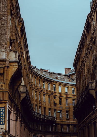Camera - Canon 550D - Lens - 50 mm f/1.8 Blog : https://www.instagram.com/david_sarkisov_photography/ Built Structure Building Exterior Architecture Sky Low Angle View Building City No People Window Nature Day Clear Sky Old Town Travel Destinations Residential District Arch Tourism Copy Space Architecture Architectural Column Architecture_collection Europe Travel Hungary Streetwise Photography