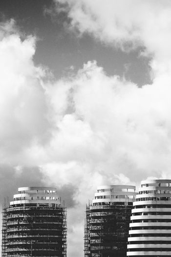 Ruins Apartment Architecture Building Exterior Built Structure City Cloud - Sky Day Low Angle View Modern No People Outdoors Residential  Sky Skyscraper