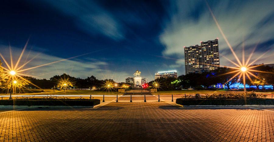 Architecture City Cityscape Houston Illuminated Landscape Landscape_Collection Long Exposure Modern Night No People Outdoors Sam Houston Sky Skyscraper Speed Texas