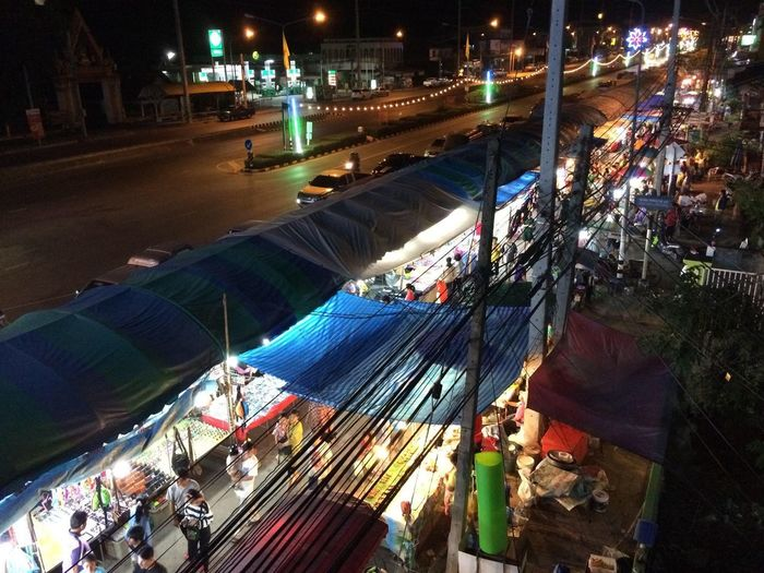 OTOP Nongphai Phetchabun Thailand 🇹🇭 Nongphai Otop  Thailand High Angle View Architecture Illuminated Night City Group Of People Building Exterior Built Structure Street Transportation Real People Large Group Of People Road Incidental People Nature Water Mode Of Transportation Crowd Outdoors